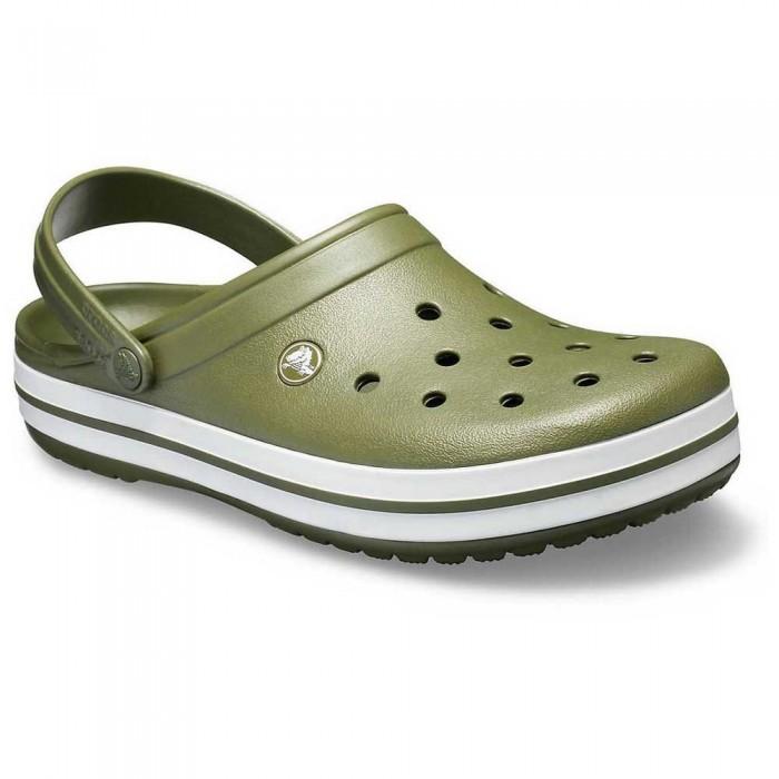 [해외]크록스 Crocband 10137091933 Army Green / White