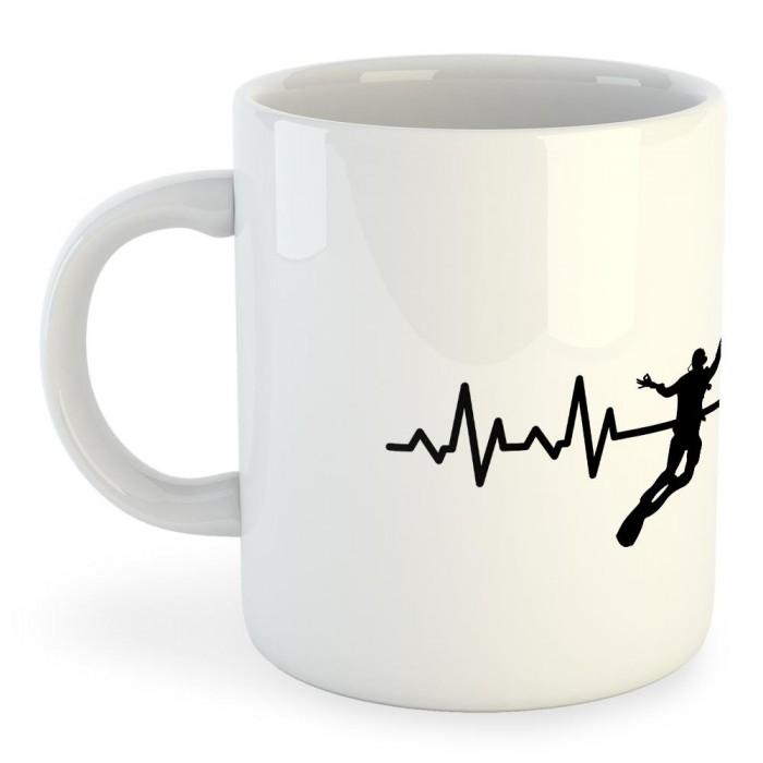 [해외]KRUSKIS Mug Diving Heartbeat 325ml White