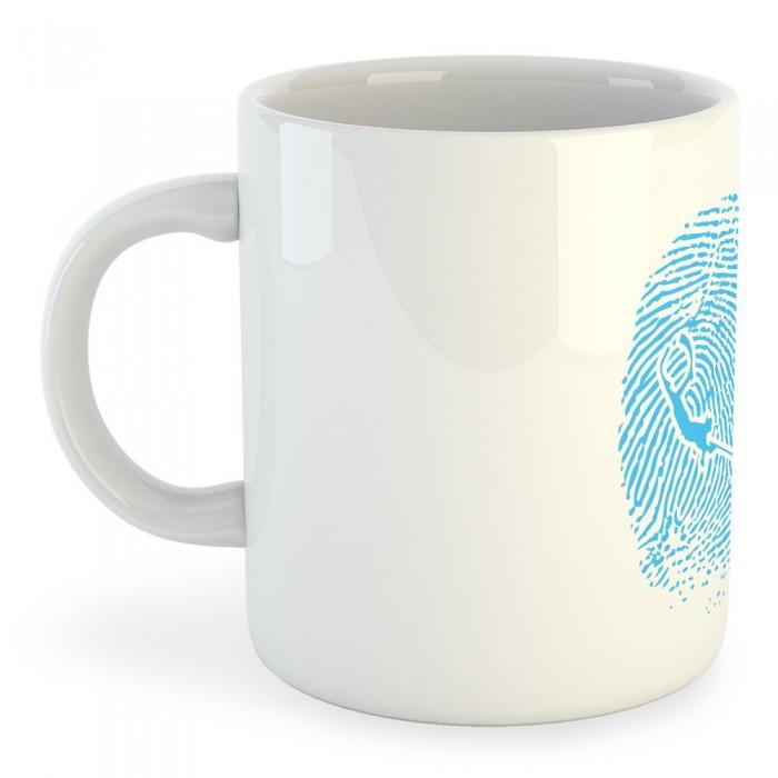 [해외]KRUSKIS Mug SpearFisher Fingerprint White