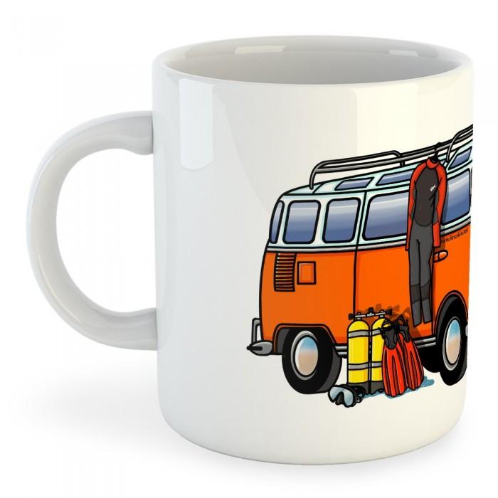 [해외]KRUSKIS Mug Hippie Van 다이버 White