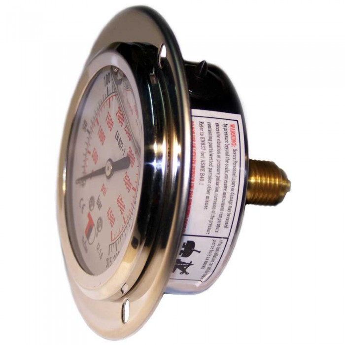 [해외]METALSUB Compressor Gauge Glycerin 63 mm 패널