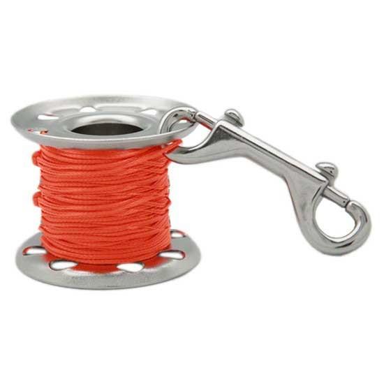 [해외]TECNOMAR Stainless 스틸 Finger Spool 위드 더블 End Clip Orange