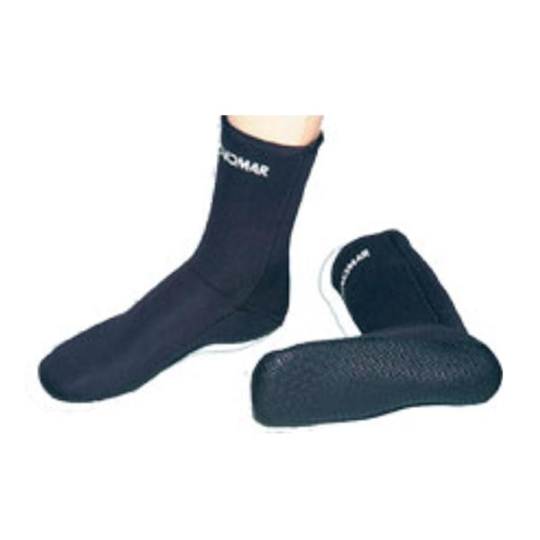 [해외]TECNOMAR Sock 3 mm 위드 Sole Black