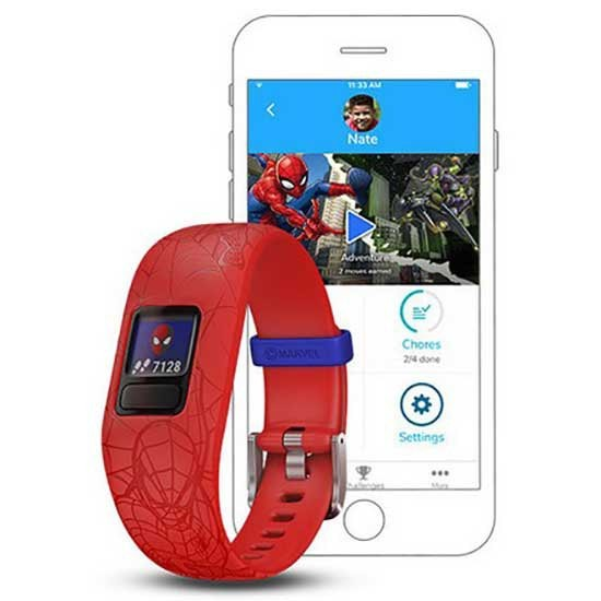 [해외]가민 Vivofit Junior 2 6136999048 Spiderman Red