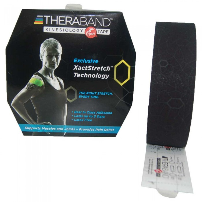 [해외]THERABAND Kinesiology Tape Precut 5 m 6136470441 Black