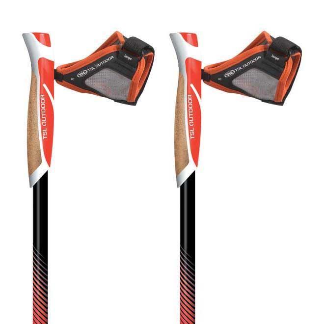 [해외]TSL OUTDOOR Trail Carbon Cork Spike 2 Units 6136153345 Black / Red / Yellow