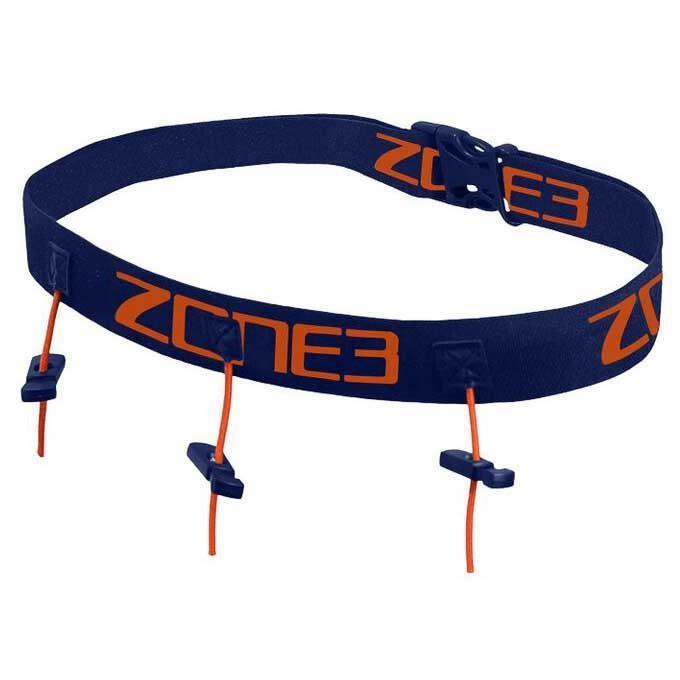 [해외]ZONE3 Race Belt With Gel Loops 6136719975 Navy / Orange