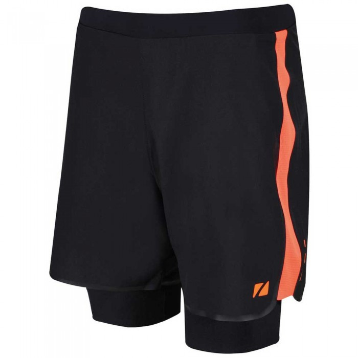 [해외]ZONE3 RX3 Compression 2 In 1 Shorts 6137079332 Black / Orange