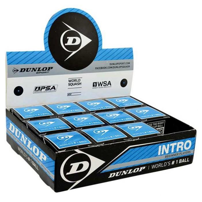 [해외]던롭 Intro Single Blue Dot Squash Balls Box 12136002258 Black