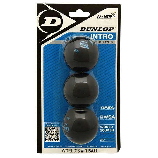 [해외]던롭 Intro Single Blue Dot Squash Balls 12136002259 Black