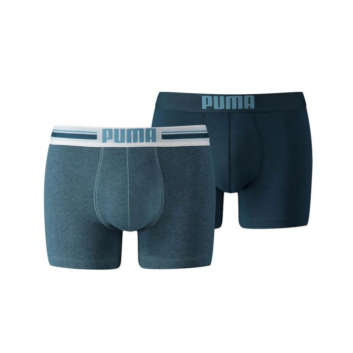 [해외]푸마 Placed Logo Boxer 2 Pack 12136567325 Denim