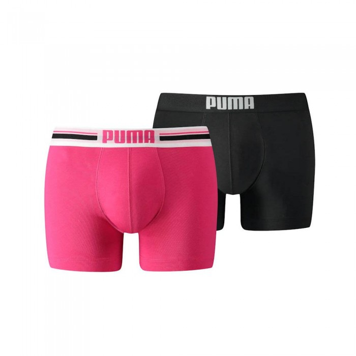 [해외]푸마 Placed Logo Boxer 2 Pack 12136567327 Pink