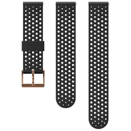 [해외]순토 Athletic 1 Silicone 20mm S+M Strap 12137002731 Black / Copper