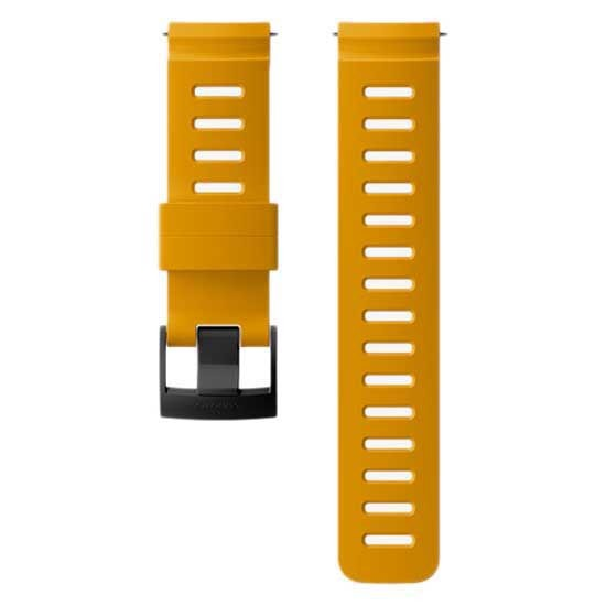 [해외]순토 24mm Dive 1 Silicone Strap 12137066444 Amber / Black