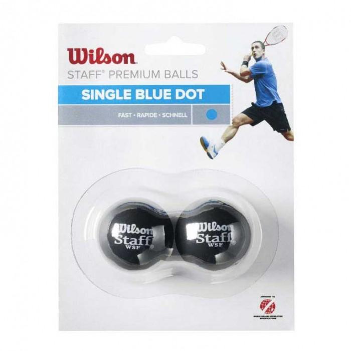 [해외]윌슨 Staff Fast Single Blue Dot Squash Balls 121234912 Black
