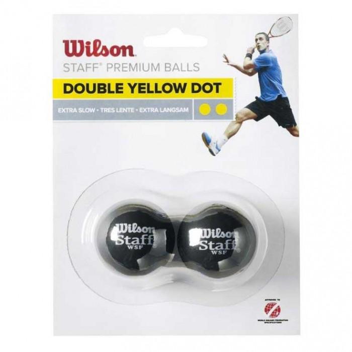 [해외]윌슨 Staff Extra Slow Double Yellow Dot 121234913 Black