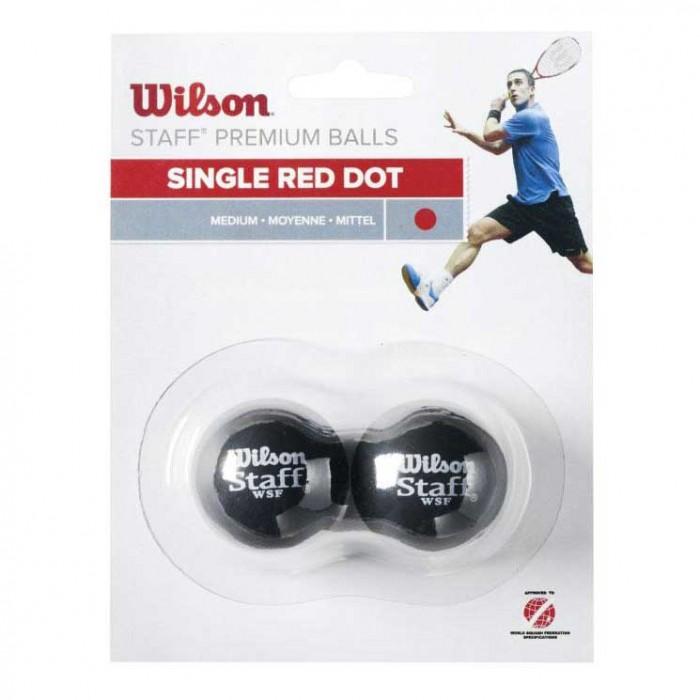 [해외]윌슨 Staff Medium Single Red Dot 121234914 Black
