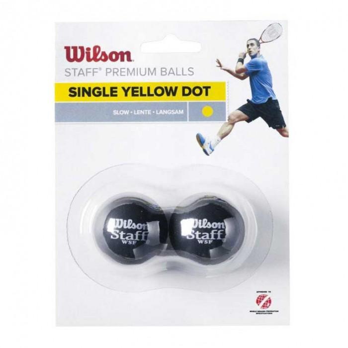 [해외]윌슨 Staff Slow Single Yellow Dot 121234915 Black