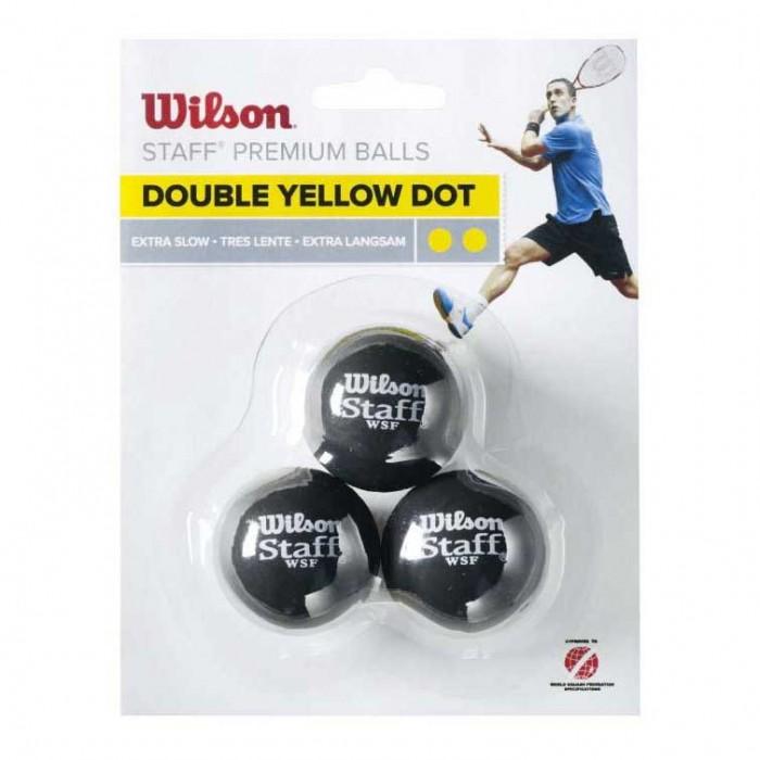 [해외]윌슨 Staff Extra Slow Double Yellow Dot 121234918 Black