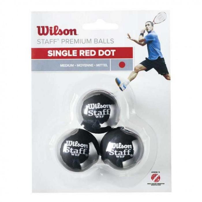 [해외]윌슨 Staff Medium Single Red Dot 121234919 Black