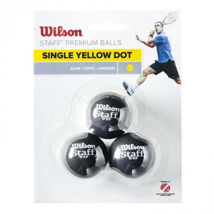 [해외]윌슨 Staff Slow Single Yellow Dot 121234920 Black