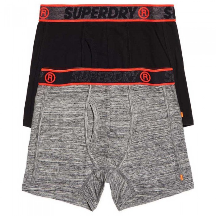 [해외]슈퍼드라이 Sport Boxer Double Pack Flint Grey Grit/Black