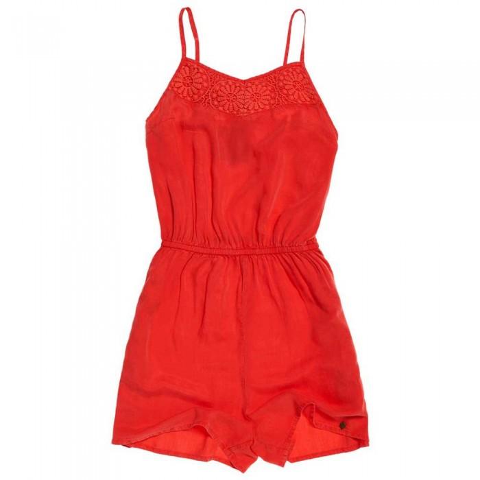 [해외]슈퍼드라이 Tess Playsuit Washed Red