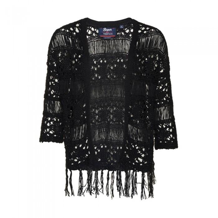 [해외]슈퍼드라이 Willow Crochet Kimono Black