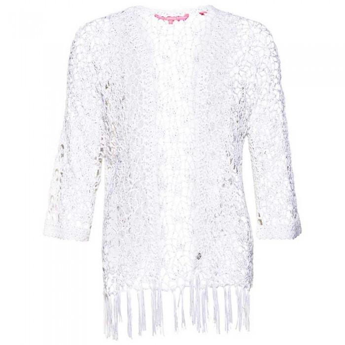 [해외]슈퍼드라이 선셋 Crochet Kimono Liner White