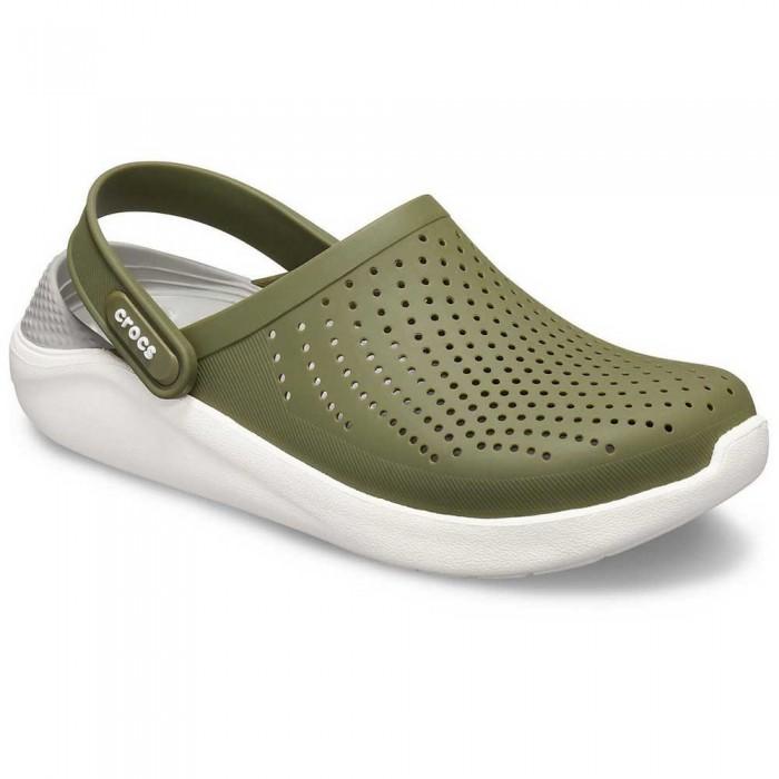 [해외]크록스 LiteRide Clog 10137164431 Army Green / White