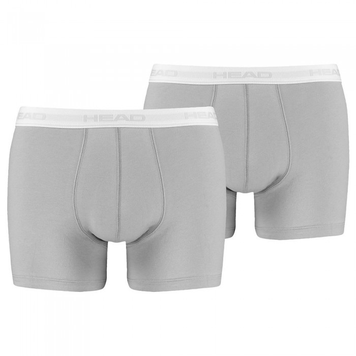 [해외]헤드 RACKET Basic Boxer 2 Pack 12137246501 Grey