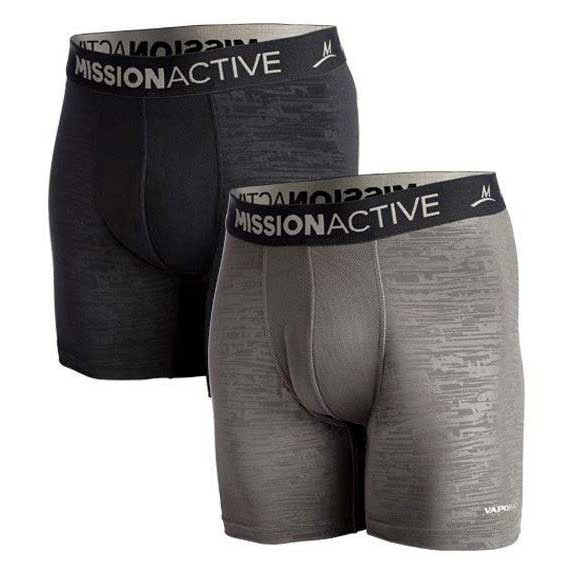 [해외]MISSION 퍼포먼스 Underwear 2 Pcs Black / Charcoal