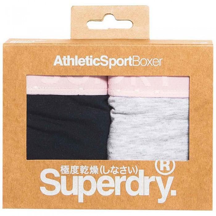 [해외]슈퍼드라이 Athletic 스포츠 복서 더블 팩 Navy / Grey Marl