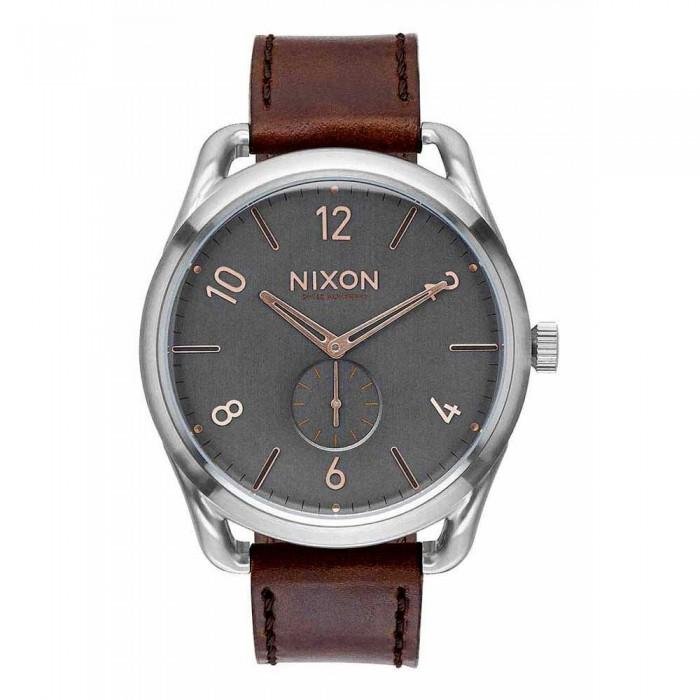 [해외]닉슨 C45 Leather Watch Gray / Rose Gold