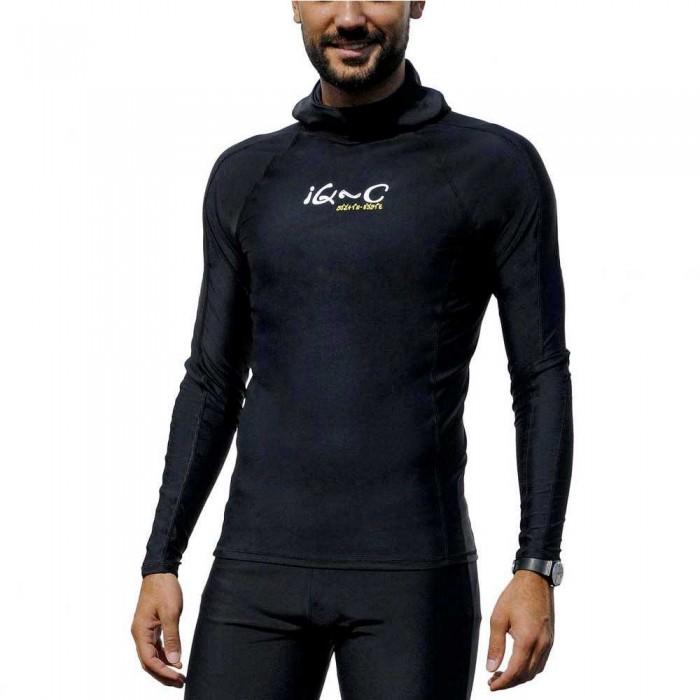 [해외]iQ-Company UV 300 Hooded Shirt 1228506 Black