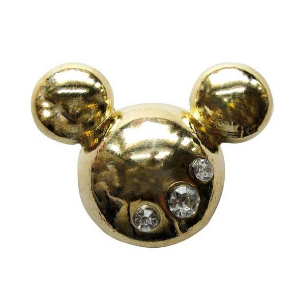 [해외]JIBBITZ 메탈 Mickey Head Gold