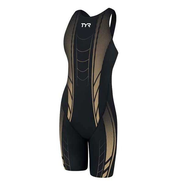 [해외]티어 AP12 Compression Open Back Speedsuit Black / Gold