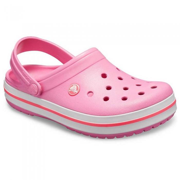 [해외]크록스 Crocband 10137164451 Pink Lemonade / White