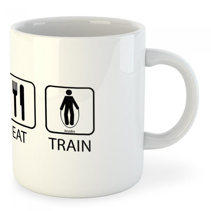 [해외]KRUSKIS Mug Sleep Eat And Train 7136490334 White