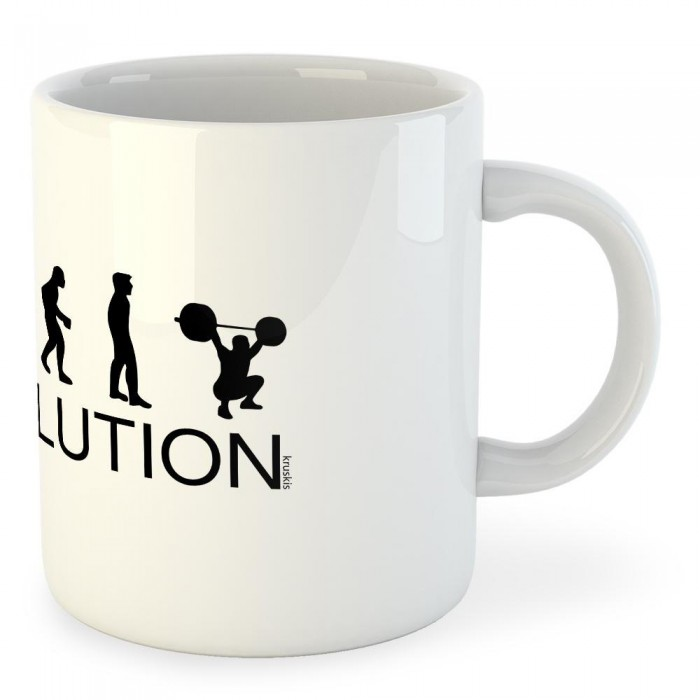 [해외]KRUSKIS Mug Evolution Train 7136665624 White