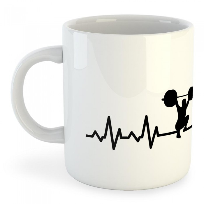 [해외]KRUSKIS Mug Fitness Heartbeat 325ml 7136887429 White