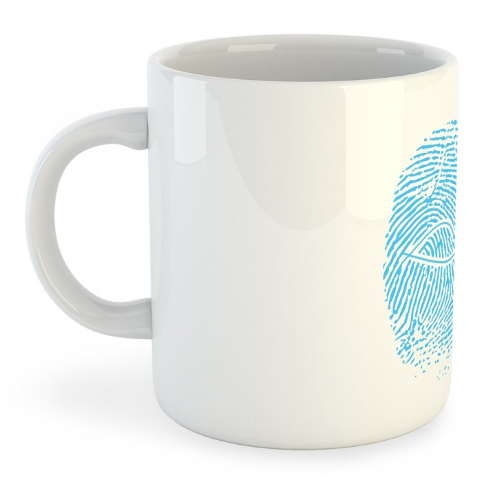 [해외]KRUSKIS Mug Crossfit Fingerprint 7137039791 White