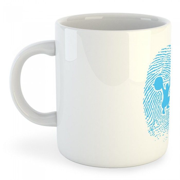 [해외]KRUSKIS Mug Fitness Fingerprint 7137039796 White