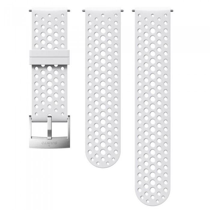 [해외]순토 Athletic 1 Silicone Strap 12136954640 White / Steel