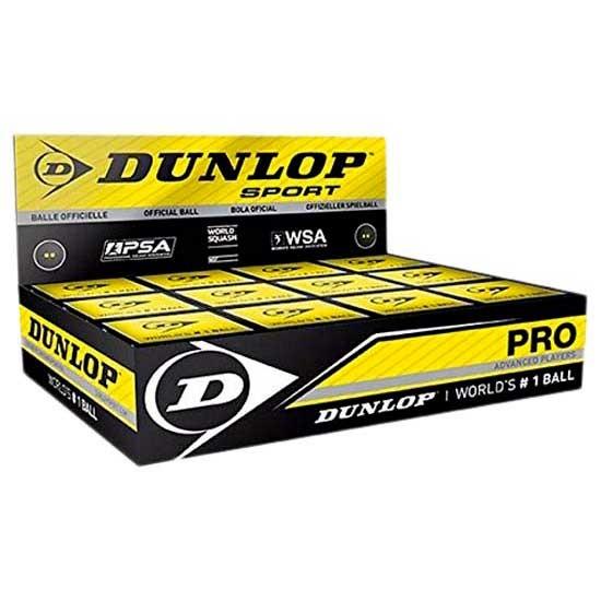 [해외]던롭 Pro Double Yellow Dot Squash Balls Box 12136002255 Black
