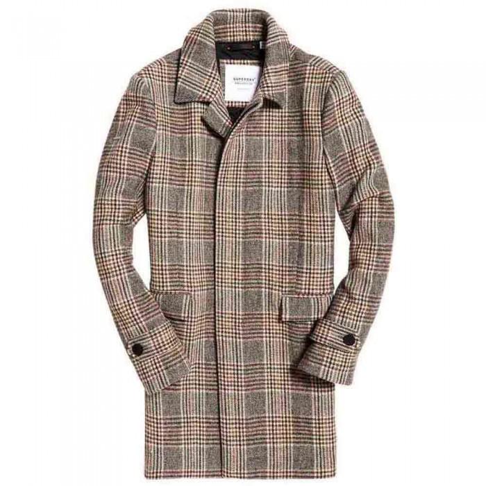 [해외]슈퍼드라이 에디트 Wool Car Coat Camel Check
