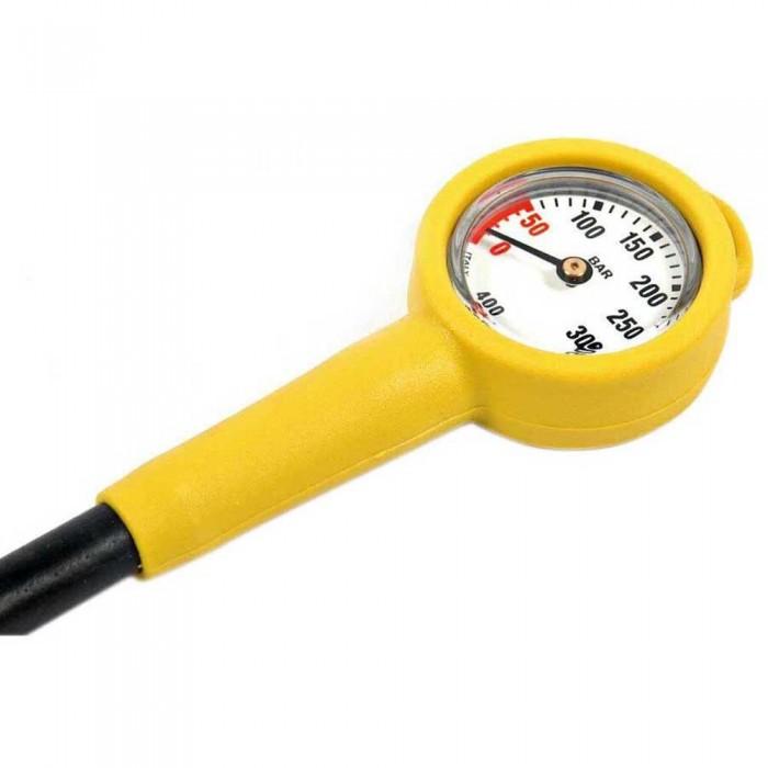 [해외]METALSUB Pressure Gauge 400 Bar Yellow