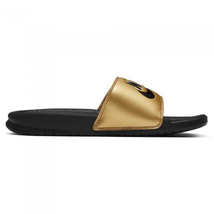 [해외]나이키 Benassi Just Do It Woman6137290133 Black / Black / Metallic Gold