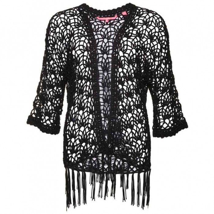 [해외]슈퍼드라이 선셋 Crochet Kimono Midnight Black