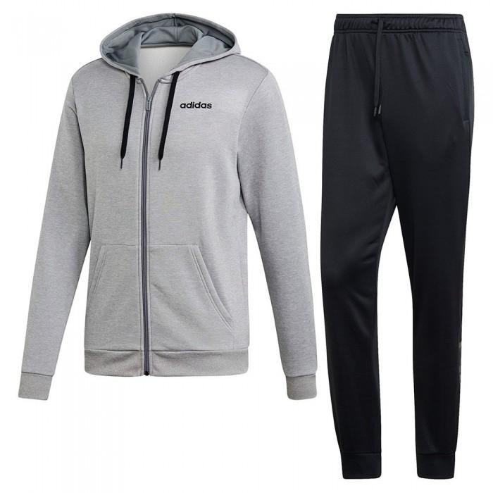 [해외]아디다스 리니어 트랙suit 레귤러 Medium Grey Heather / Black